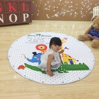 Wholesale Learning Blanket - Round Cotton Baby Safety Cushion Quilted Fixed Extra Large Baby Climb Blanket Lovely Pattern Learn Mats Carpet