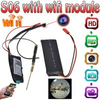 Wholesale Pc Control Dvr - 32GB S06 1080P Mini Camera Video Wifi P2P DIY Module Mini DV DVR Wireless IP Security Surveillance Camera For PC Tablets Smartphones