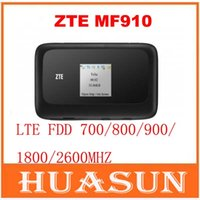 Wholesale Pocket Mobile Wifi Router - DHL EMS free shipping ZTE MF910 4G LTE Mobile Hotspot 4G Pocket WiFi Router