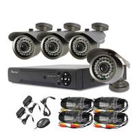 Wholesale Cctv 8ch Cmos - HDMI 8CH Realtime FULL 720P DVR KIT 4x HD 720P Night Vision 120ft CMOS CCTV Camera Security System Surveillance Recorder CCTV System