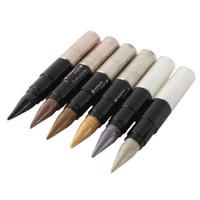 Wholesale Using Eye Shadow - Wholesale-7 styles Hot Waterproof Shimmer Dual-use Eyeliner Lip Liner Eye Shadow Pencil Makeup Tool