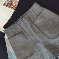 Wholesale Korean Gray Boots - 2016 Korean Version The high-waist Woolen Shorts Autumn Winter New Leisure Boots Pants Were Thin Outer Wear Base Wide Leg Pants S 69