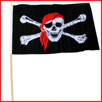 Wholesale Function House - Pirate Flag 30*45CM Multi Function Halloween Haunted House Bar KTV Skull Flags Chemical Fiber Cloth Black Decorate Tool 1 98qk J R