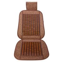 ingrosso secchi di bambù-Cuscino per seggiolino auto Bamboo Cool Cover traspirante adatto per la maggior parte dei sedili con benna per veicoli Aiuto per alleviare lo stress del lavoro Coprisedili
