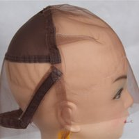 Wholesale Swiss Lace Make Wigs - Full Lace Wig Cap for Making Wigs Swiss and French Lace Hair Net with ear to ear Stretch Medium Brown Color for Wig Making