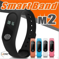 Wholesale Wrist Watch Band Wholesalers - M2 Fitness tracker Watch Band Heart Rate Monitor Waterproof Activity Tracker Smart Bracelet Pedometer Call remind Health Wristband With OLED