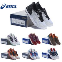 Wholesale New Gel Colors - New Colors Asics Running Shoes Gel Lyte V5 For Women & Men,Lightweight Breathable Athletics Discount Sport Sneakers Free Shipping Size 36-44