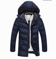 Wholesale Parka Crystal - Winter Brand Men's Casual Fur Collar Thick Down Jacket Men Long Hooded Parkas Coat Outerwear Jaqueta Masculina Plus Size 6868