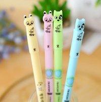 Wholesale Dog Stationery - Wholesale-4pcs lot 0.5mm Erasable Rabbit& Dog Gel Ink Pen Promotional Gift Stationery School & Office Supply