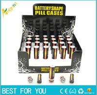 carcasa de batería aa al por mayor-Envío gratis Secret Stash Diversion Caja de pastillas de batería AA segura Contenedor oculto Estuche de regalo Nuevo