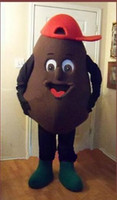 Wholesale Coffee Bean Halloween Costume - Coffee beans Mascot costume Adult Size Halloween Costume Free Shipping