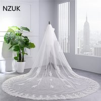 Wholesale Cover Photo New Flower - 2018 Real Photos High Quality 2 Tiers Blush Cover Face Cathedral Shining Sequined Lace Wedding Veil with Comb New Bridal Veil
