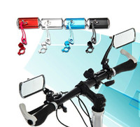 Wholesale Classic Bicycle Handlebars - Outdoor Bike rear view mirror  classic cycling rectangle mirror reflector  handlebar end rearview mirror bicycle parts