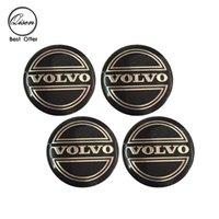 56.5mm 3D Car Badge Wheel Center Hub Cap Sticker Durable Logo Brand Emblem Car Accessory Anti Fade Wheel Decoração ajustada para VOLVO