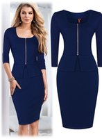 Wholesale Working Dress Elegant - Free shipping Women's Office Lady Work Elegant Bodycon Cocktail Party Mini Dresses Work wear Work Dress Fashion 3165