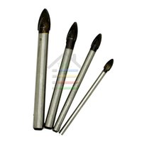 Wholesale Porcelain Tile Wholesalers - 4pcs 4 6 8 10mm Glass Ceramic Wall Tile Porcelain Spear Head Marble Triangle Core Drill Bits Hole Saw Set order<$18no track