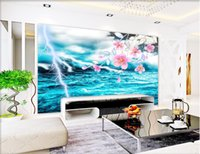 3d wallpaper wallpaper foto personalizzata murale Cool lightning green sea view background w wall painting picture 3d murales wallpaper per pareti 3 d
