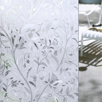 Wholesale Frosted Privacy Glass - New 45*100CM UV Proof Static Cling Frosted Stained Flower Glass Window Film Sticker Privacy Home Decor