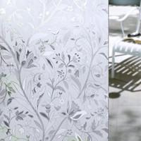 buzlu etiket toptan satış-Yeni 45 * 100 CM UV Geçirmez Statik Sarılmak Buzlu Lekeli Çiçek Cam Cam Filmi Etiket Gizlilik Ev Dekorasyonu