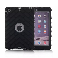 Wholesale Detachable Ipad - Tire profile Case Funda For iPad Mini 1 2 3 Durable Heavy Duty 3 Layers Detachable Rugged Coque Case Armor Shockproof Cover
