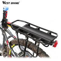 Wholesale Shelf Loading - Wholesale-WEST BIKING Original US Brand Multipurpose Rear Carrier Rack Stacking Quick Release Seat Shelf Bicycle Load 50Kg Luggage Cycling