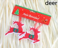 Wholesale Deer Christmas - Christmas supplies Size 10-15cm red Christmas hanging decoration christmas tree,stocking,deer,snowflake,pentagram,gift,gloves