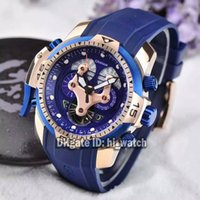 Wholesale Professional Divers - Super Clone Brand Luxury British Mastep Chronofighter George Oversize Professional Diver Automatic Men's Watch Rose Gold Rubber New Watches