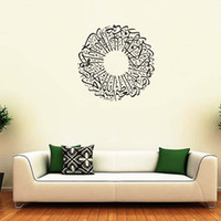 Wholesale Islamic Wall Decorations - Islamic Muslin Wall Decal Arabic Quran Bismillah Calligraphy Wall Poster Home Decoration Wall Mural Living Room Background Wall Stickers