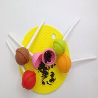 Wholesale Funny Stick Cartoons - Cute Lollipop Shape Tea Infuser Creative Silicone Puer Suger Stick Tea Strainer Loose-Leaf Spice Flower Herbal Tea Filter Funny Gift
