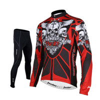Wholesale Mens Cycling Tights Long - Tasdan Cycling Jersey Sets 3D Slim Cutting Long Sleeve Mens Cycling Jerseys Suit Custom Jersey and Tight Pants