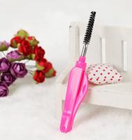 Wholesale mascara comb brush - 50pcs Eyelash Make Up Brush Synthetic Eyelash Brush Mascara Applicator Wand Beauty Makeup Tools Eyelash Brush And Eyebrow Comb