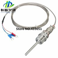 Wholesale Threaded Npt - Wholesale-New Electric Unit High quality RTD PT100 Temperature Sensors 1 2 Inch NPT Threads With Detachable Connector Useful Tool Tools