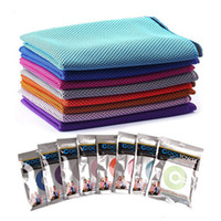 Wholesale Magic Cool Towel Wholesale - New Magic Cooling Towel Ice Cold Two Layers Towel Summer Sunstroke Sports Exercise Cool Quick Dry Soft Breathable Cooling Towel