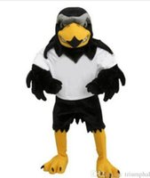 Wholesale Fits Mascot Costumes - 2017 Deluxe Plush Falcon Mascot Costume Adult Size Eagle Mascotte Mascota Carnival Party Cosply Costume Fancy Dress Suit Fit