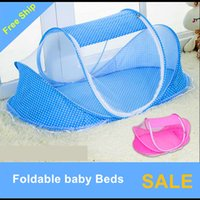 Wholesale Mongolia Mosquito Nets - Wholesale- Barraca Infantil Free Installation Of Foldable Baby Mosquito Net Cover Bag Bracket With Mongolia Newborn Children Bed