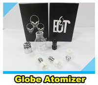 Wholesale Ego Kits Two Battery - 100% High Quality Glass Globe Bulb wax atomizer tank ECT vaporizer kit with two core coil head for Ego Evod Ecigarette battery