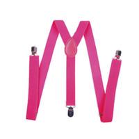 Wholesale Men Garter Belts - Wholesale-NEW 15 Colors Unisex Men Women Clip-on Suspenders Elastic Y-Shape Adjustable Garter Braces Belt Cloth Accessories