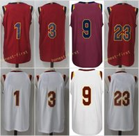 8bad3f6d3 Mens 2017-18 New season 9 Dwyane Wade 23 LeBron James 1 Derrick Rose 3 Isaiah  Thomas Maroon White Red Blue 100% Stitched jersey free ship