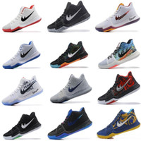 Wholesale Blue Ball Game - 2017 New Arrival Kyrie Irving 3 Signature Game Basketball Shoes For Top Quality Men's Sports Training Basket ball Sneakers Size 40-46