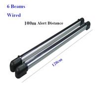 Wholesale Infrared Barrier Beam Detector - 100 memter Wired 6 Beams Infrared IR Barrier Detector Motion Sensor Outdoor for gsm alarm panel