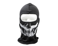 Fantôme Masque Skull Full Face Cosplay Balaclava Paintball capot extérieur wargame Airsoft Chasse tactique Masques Chasse Accessoires