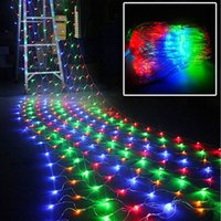 mesh fee lichter groihandel-2 Mt x 3 Mt 200 LED Linkable Web Net Mesh Fairy Lichterkette für Indoor Outdoor Hausgarten Weihnachtsfeier Hochzeit Vorhang Lichterketten