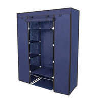 "Wholesale clothes rack closet - 67"" Portable Closet Storage Organizer Wardrobe Clothes Rack With Shelves"