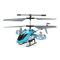 Wholesale Alloy R C Helicopter - Wholesale-Boys toy RC Helicopter with gyro Infrared remote control toys Metal alloy body R C Helicoptero light up dron