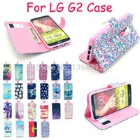 Wholesale Lg G2 Fashion Leather Wallet - Wholesale-1PCS Flower Towers Owls Tiger Fashion Style Flip Wallet Cover Cases For LG Optimus G2 D802 F320 LS980 Luxury PU Leather Case