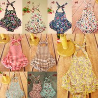Wholesale Tutu Fast Shipping - New Baby Girls Romper Toddler With Printed Flower Set Children One Pieces The Little Baby Clothes 2017 Hot Sale Fast Shipping