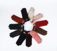 Wholesale High Fashion Leather Gloves - 2016 the new women's bright high quality fur gloves warm gloves leather gloves