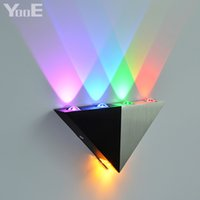 Wholesale Modern Disco - YooE 5W LED Wall Lamp AC90-260V High Power Sconce Modern Home Lighting Indoor Wall Light Party Ball Disco Colorful Light