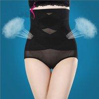 Wholesale Thin Abdomen Postpartum - Wholesale- Women Shapers High Waist Hip Pants Fat Burning Women Control Panties Postpartum Recovery Abdomen Ultra-Thin No Trace DP803629