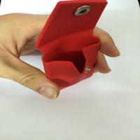 образец бизнеса оптовых-умный образец держателя карточки бумажника, держатель кредитной карточки дела силикона Слипчивый,pal силикона карманный для галактики iphone 6s samsung